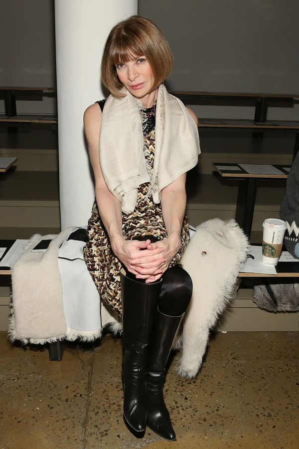 Anna Wintour attends Wes Gordon runway show