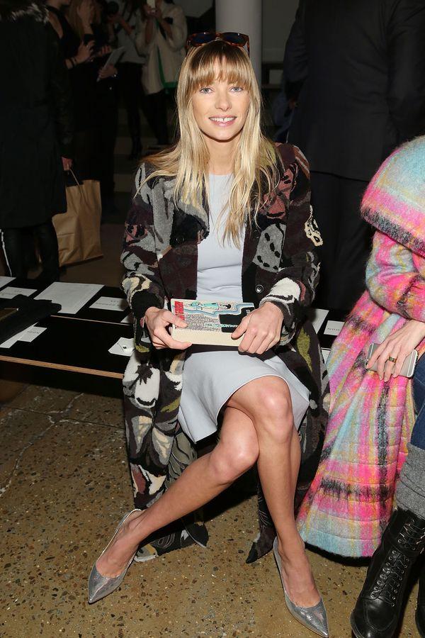 Jessica Hart attends Wes Gordon runway show