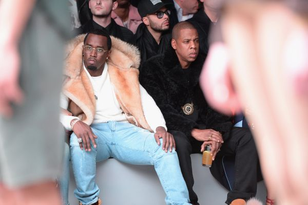Sean 'Diddy' Combs and Jay Z at the adidas Originals x Kanye West YEEZY SEASON 1 fashion show
