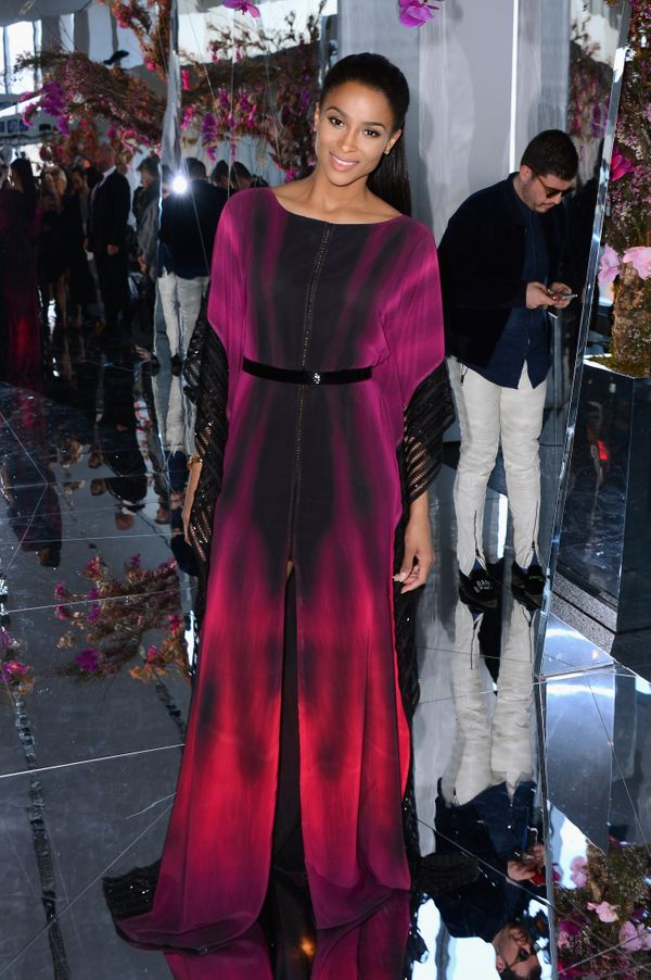 Ciara attends the Gabriela Cadena fashion show