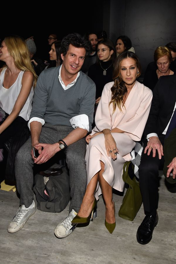 Adam Glassman and Sarah Jessica Parker attend the Tome fashion show