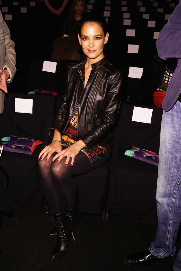 Katie Holmes attends the Desigual fashion show