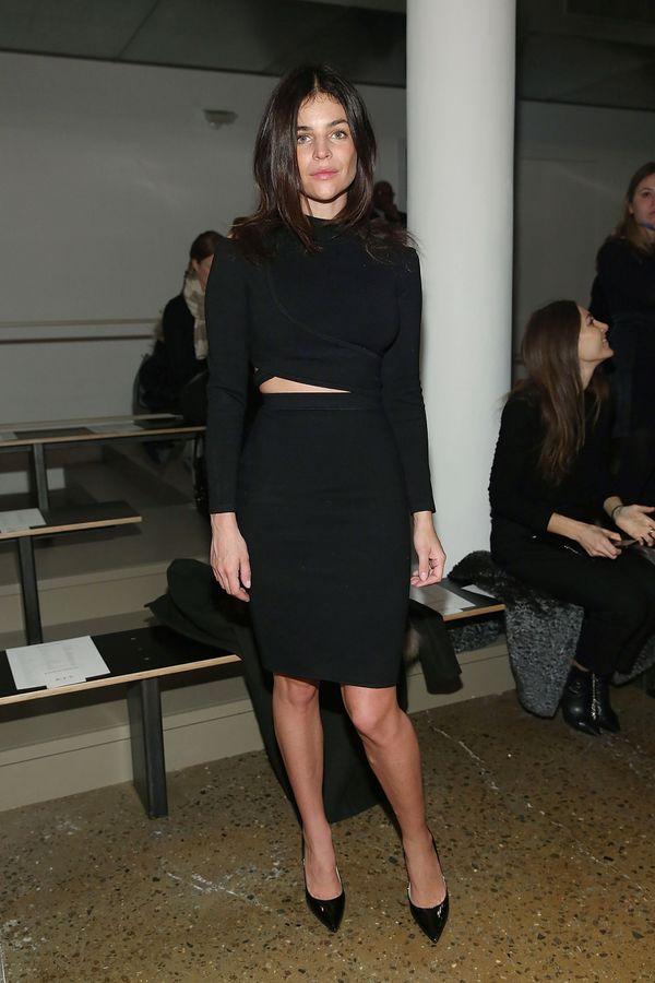 Julia Restoin Roitfeld attends Jonathan Simkhai runway show