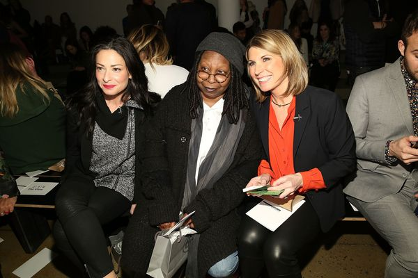 Stacy London, Whoppi Goldberg and Nicolle Wallace attend Marissa Webb runway show