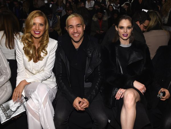 Petra Nemcova, Peter Wentz and Coco Rocha attend the BCBGMAXAZRIA fashion show
