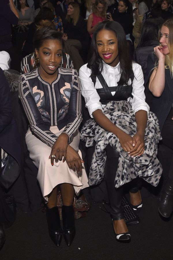 Estelle and DJ Kiss attend the BCBGMAXAZRIA fashion show