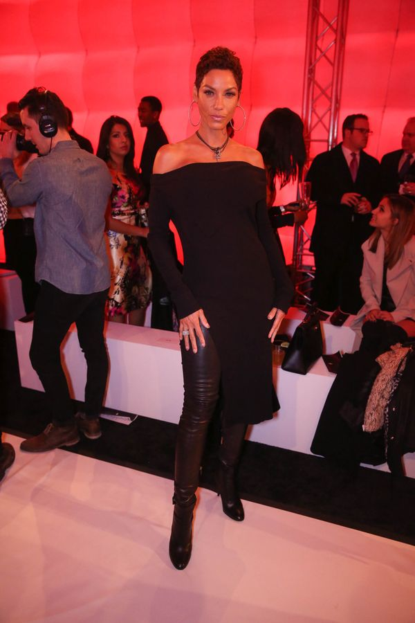 Nicole Murphy attends the Argyleculture By Russell Simmons X ModaBox show