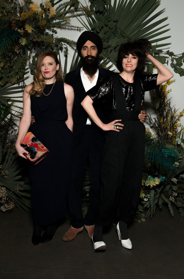 Natasha Lyonne, Waris Ahluwalia and Parker Posey at the Rachel Comey show