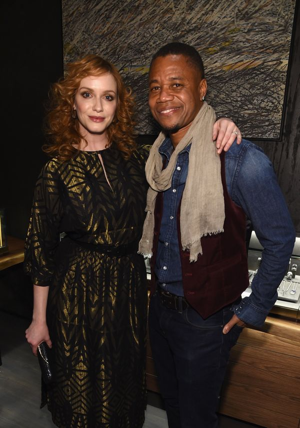 Christina Hendricks and Cuba Gooding, Jr. at the David Yurman Soho Boutique Grand Opening