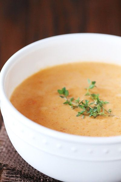 """<strong>Get the <a href=""""http://www.gimmesomeoven.com/lobster-bisque/"""" target=""""_blank"""">Lobster Bisque recipe</a> from Gimme S"""