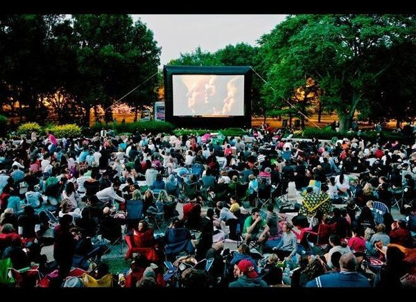 <em>Photo Credit: Courtesy of Chicago Park District</em>  Choose from a range of classics (such as A League of Their Own an