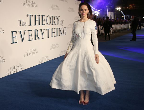 "Nominated for Best Actress in ""The Theory of Everything."""