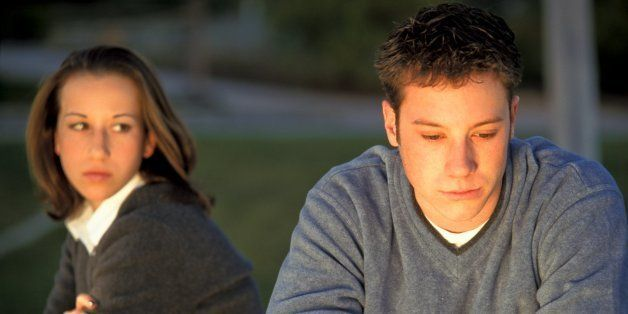 Teen Couple After Argument, Age, 18 Years Old. (Photo by Education Images/UIG via Getty Images)