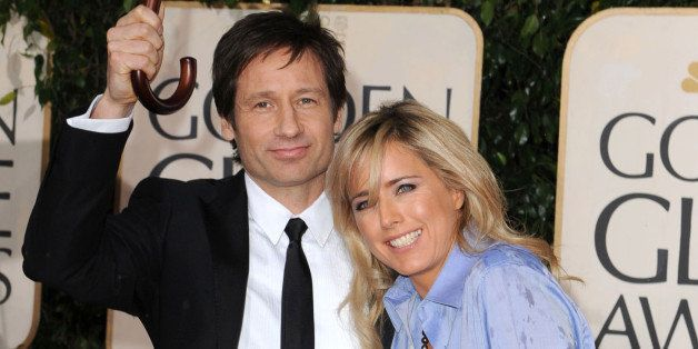 BEVERLY HILLS, CA - JANUARY 17: Actors David Duchovny and Tea Leoni attends the 67th Annual Golden Globes Awards at The Beverly Hilton Hotel on January 17, 2010 in Beverly Hills, California. (Photo by Steve Granitz/WireImage)