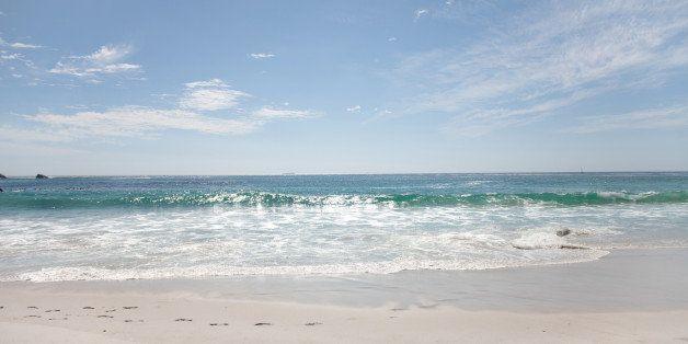 Surf along beach