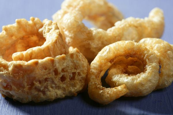 """Pork skin is a common snack around the world. (It's known as rinds in the U.S. and cracklings in the U.K.) To <a href=""""http:/"""