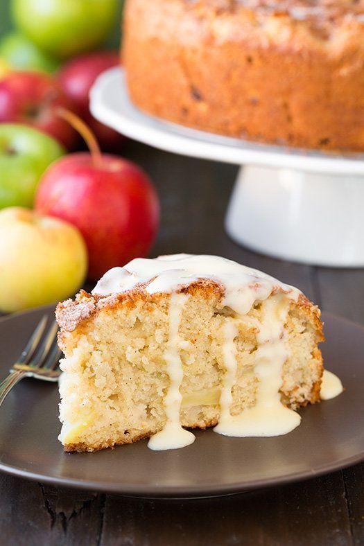 "<strong>Get the <a href=""http://www.cookingclassy.com/2014/10/irish-apple-cake-custard-sauce/"" target=""_blank"">Irish Apple Ca"