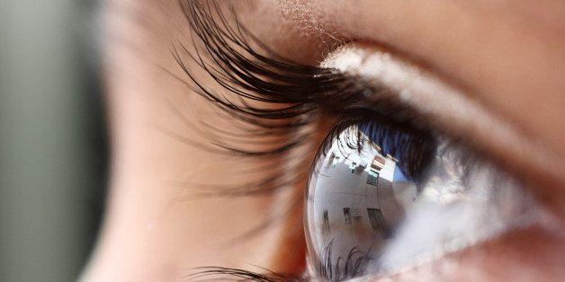Close up of an eye.