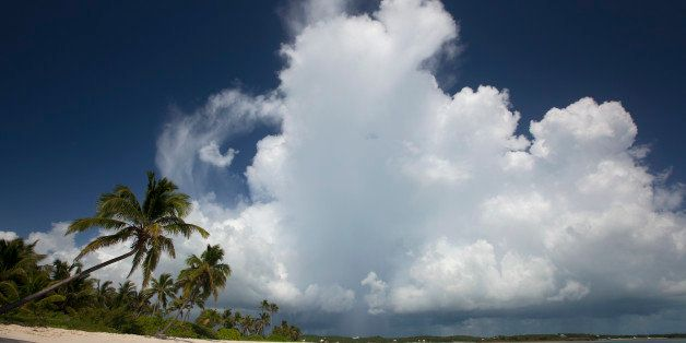 Cumulonimbus cloud developing in the sky.