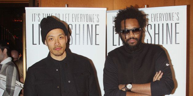 NEW YORK, NY - FEBRUARY 17:  Designers Dao-Yi Chow and Maxwell Osborne attend Reimagine Learning at The Top of The Standard on February 17, 2015 in New York City.  (Photo by Jim Spellman/WireImage)