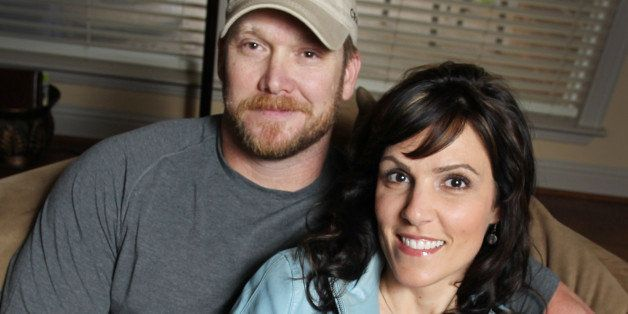 Chris Kyle, a retired Navy SEAL and bestselling author of the book 'American Sniper: The Autobiography of the Most Lethal Sniper in U.S. Military History,' is seen with his wife, Taya, April 6, 2012. Kyle was one of two people reported killed on the gun range at Rough Creek Lodge near Glen Rose, Texas, Saturday, February 2, 2013. (Paul Moseley/Fort Worth Star-Telegram/MCT via Getty Images)