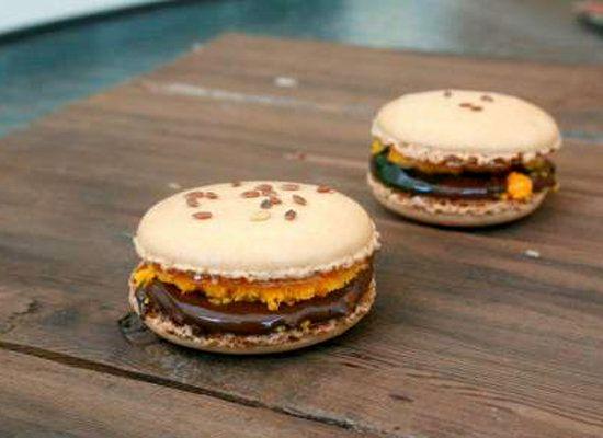 "<strong>Get the <a href=""http://boyandtherabbit.wordpress.com/2012/07/03/hamburger-macarons/"">Hamburger Macaron recipe</a> by"
