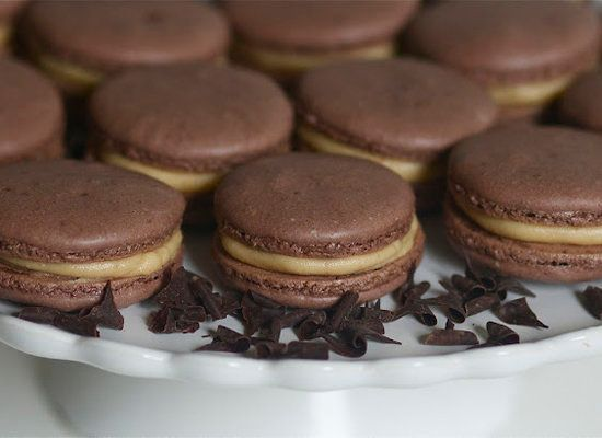 """<strong>Get the <a href=""""http://www.the-baker-chick.com/2012/03/chocolate-peanut-butter-macarons.html"""">Chocolate Peanut Butte"""