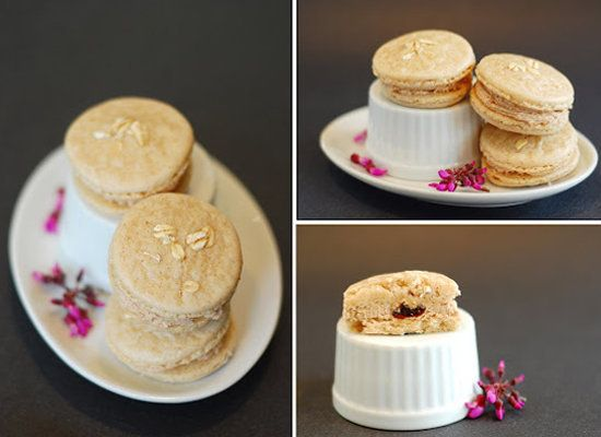 """<strong>Get the <a href=""""http://www.lisaisbossy.com/2009/03/oatmeal-is-good-for-your-heart.html"""">Oatmeal Raisin Macaron recip"""