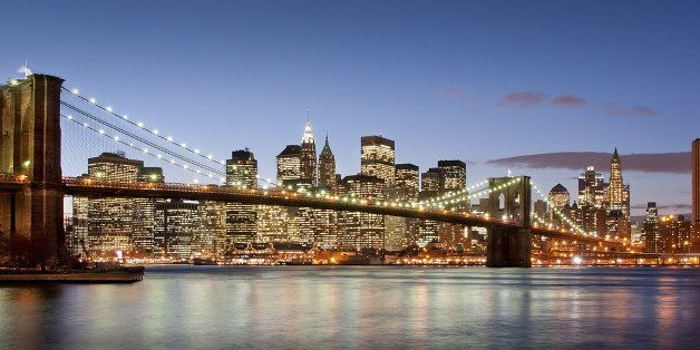 Sunset in Manhattan, Brooklyn Bridge