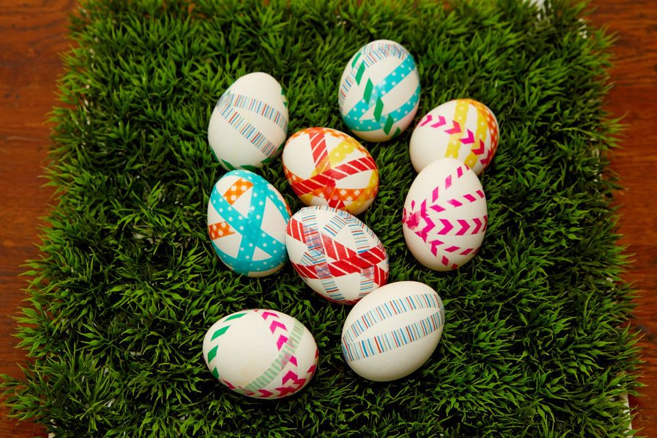 How To Dye Easter Eggs With Nail Polish Huffpost Life