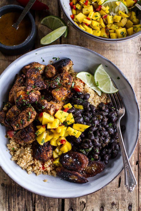 "<strong>Get the <a href=""http://www.halfbakedharvest.com/cuban-chicken-black-bean-quinoa-bowls-fried-bananas/"" target=""_blank"