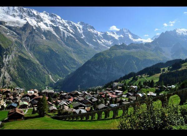 <em>Photo Credit: © Bdias2 | Dreamstime.com</em>  Where: Berner Oberland, Switzerland  A Noah's Ark village pasted about