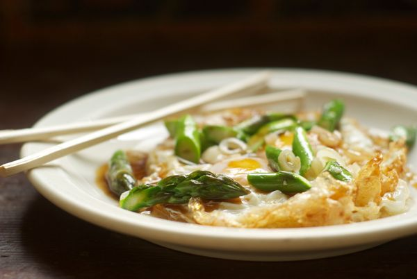 """<strong>Get the <a href=""""http://food52.com/recipes/11754-fried-eggs-with-asparagus-ramps-and-oyster-sauce"""" target=""""_blank"""">Fr"""