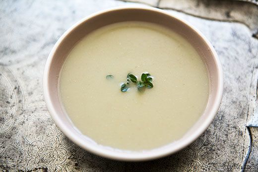 """<strong>Get the <a href=""""http://www.simplyrecipes.com/recipes/artichoke_soup/"""" target=""""_blank"""">Artichoke Soup recipe</a> from"""