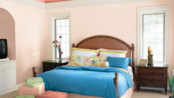 With a new batch of more-sophisticated pastels hitting the market, people are opting for softer colors in the bedroom, says J