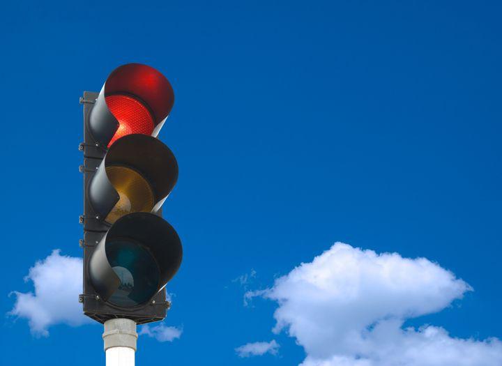 traffic lights   red light is...