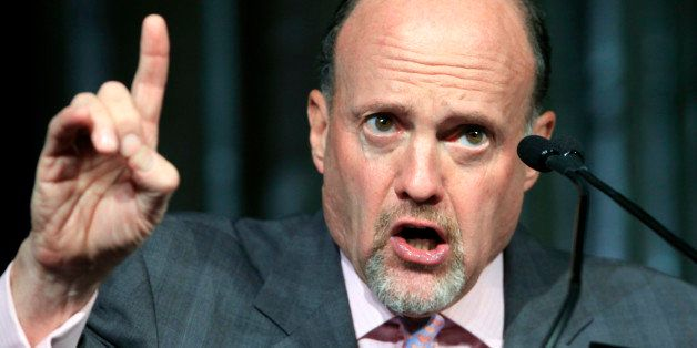 Jim Cramer, host of CNBC's Mad Money, speaks about social media during a financial services technology conference sponsored by the Securities Industry and Financial Markets Association, Wednesday, June 15, 2011 in New York. (AP Photo/Mark Lennihan)