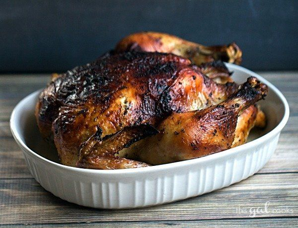 "<strong>Get the <a href=""http://www.thisgalcooks.com/oven-roasted-rotisserie-style-chicken/"" target=""_blank"">Oven Roasted Rot"