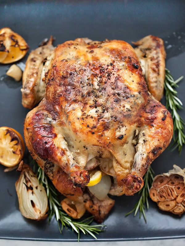 "<strong>Get the <a href=""http://www.foodiecrush.com/2015/03/oven-roasted-chicken-with-lemon-rosemary-garlic-butter/"" target="""