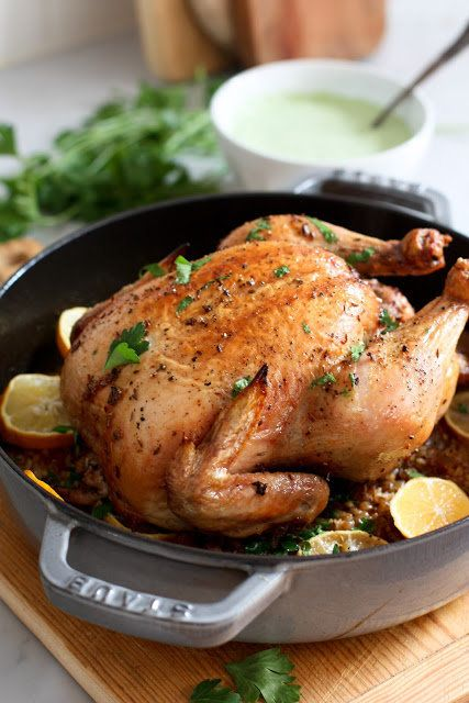 "<strong>Get the <a href=""http://www.feastingathome.com/2013/01/whole-roasted-harissa-chicken.html"" target=""_blank"">Roasted Ch"