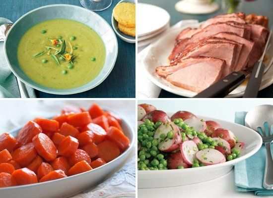 This classic menu gives you the sweet baked ham you desire on Easter Sunday as well as a number of dishes that speak to the s