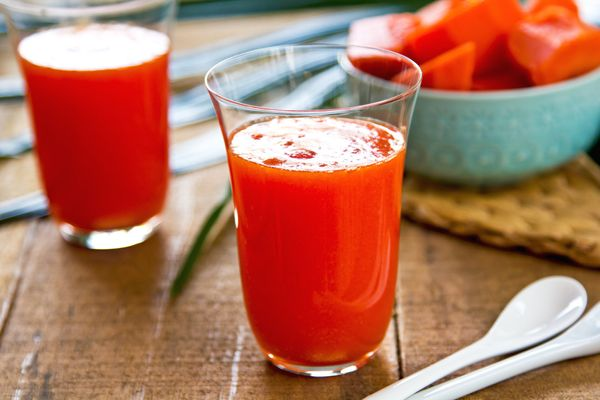 Looking to perk up the girls? Forget the Wonderbra and just pour yourself a glass of fresh papaya juice and milk. For decades