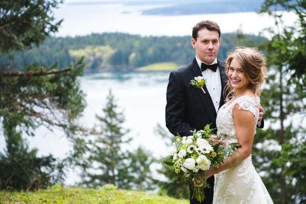 """Angela and Ben got married on gorgeous Galiano Island in British Columbia on Saturday."" - Lara Eichhorn"