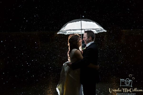 """""""It was pouring, but Lisa and Conor were up for some fun."""" - Ursula McCollam"""
