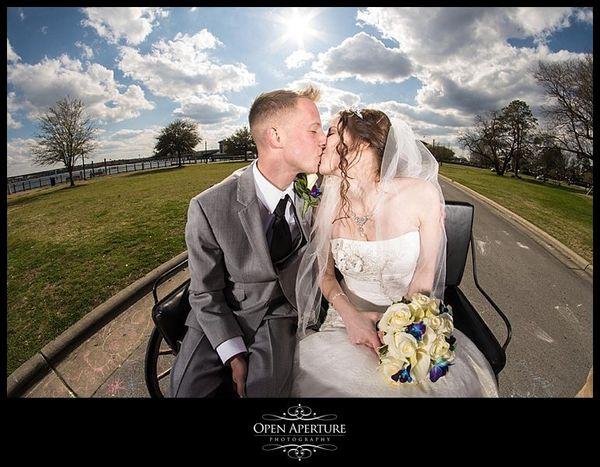 """Congrats to Darrell and Caitlin, married in New Bern, North Carolina.""  - Bob Mackowski"