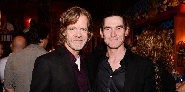 """Writer and director William H. Macy, left, and actor Billy Crudup attend the after party for the Los Angeles screening of the feature film """"Rudderless"""" at El Chavo on Tuesday, Oct. 7, 2014 in Los Angeles. (Photo by Dan Steinberg/Invision/AP)"""