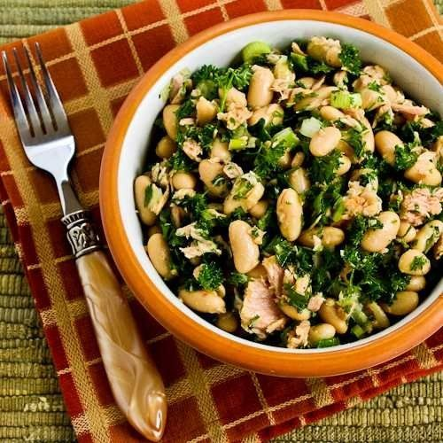 """<strong>Get the <a href=""""http://www.kalynskitchen.com/2007/04/white-bean-salad-with-tuna-and-parsley.html?m=1"""" target=""""_blank"""