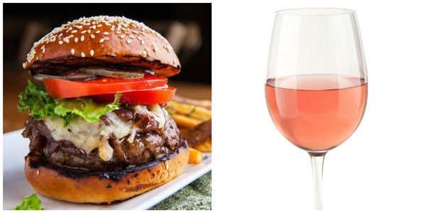 A rosé can hold its own against a burger, but it's light enough for brunch. Corkbuzz offers a whole class on pairing burgers