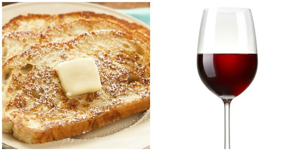 Corkbuzz's cornflake-crusted French Toast, which comes with seasonal jam and whipped cream, goes well with an oaky Pinot Noir