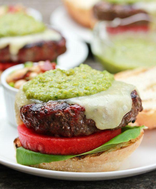 "<strong>Get the <a href=""http://www.aspicyperspective.com/2011/08/summers-best-burger.html"">Salsa Verde Burger with Fontina,"